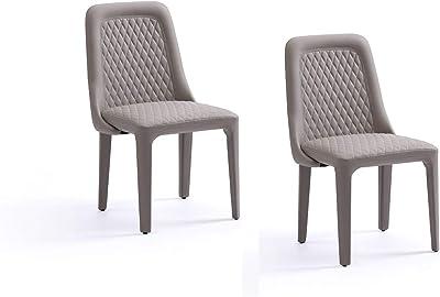 Amazon.com: Juego moderno de 2/4/6 sillones de comedor de ...