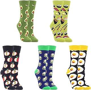 ZSWQ, Calcetines Estampados Calcetines de Colores de Moda,Calcetines de Vestir Divertidos, Calcetines de Oficina de Algodón con Estampados Divertidos y Elegantes de Fantasía, Calcetines Locos Geniales