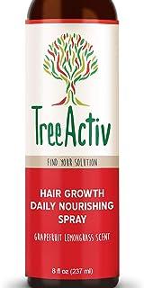 TreeActiv Hair Growth Daily Nourishing Spray Natural Leave in Conditioner Anti Frizz Reduce Curly Frizzy Hair Argan Oil Biotin Keratin Silk Aminos Tea Tree (Grapefruit Lemongrass)