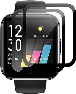 GIOPUEY [2 Pack] Skärmskydd Kompatibelt med Realme Watch, [Full Täckning]Ultratunn HD-Kompositskyddsfilm, Reptålig, Bubbelfri
