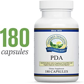 Nature's Sunshine PDA Combination, 180 Capsules | Hydrochloric Acid and Pepsin Supplement That Helps Break Down Proteins in The Digestive Tract
