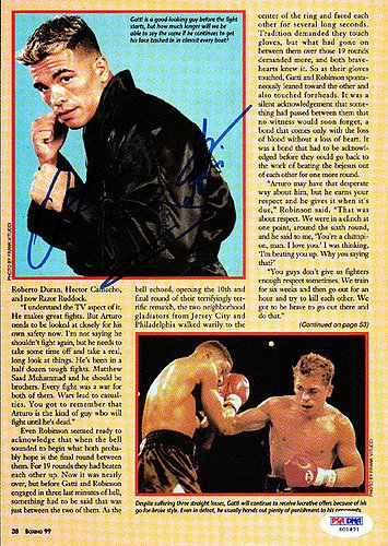 Arturo Gatti Autographed Magazine Page Photo - PSA/DNA Certified