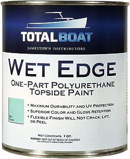 TotalBoat Wet Edge Marine Topside Paint for Boats, Fiberglass, and Wood (Sea Foam, Quart)