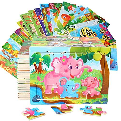 Cenhou Puzzles für Kinder,Kinder Holzpuzzle Spiele Vorschule Lernspielzeug Set,...