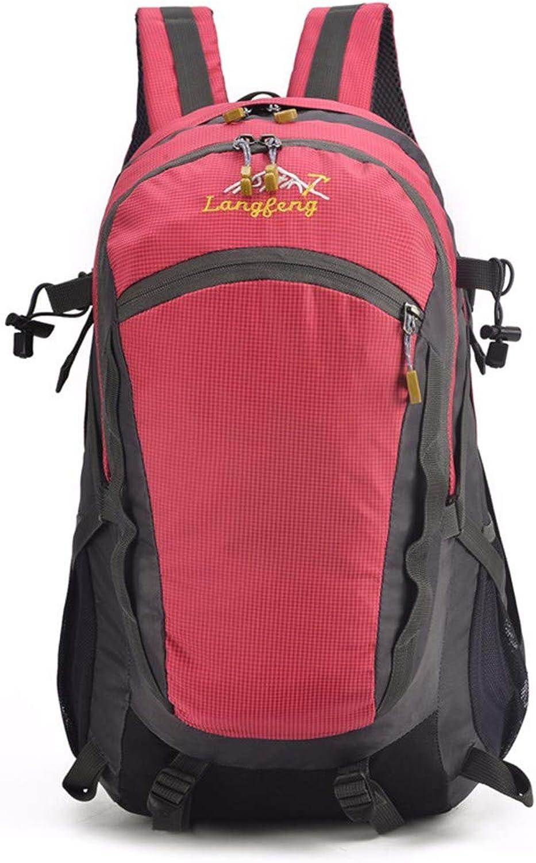 GQFGYYL männer und Frauen mit Sports travel travel travel Bergsteigen Taschen mit großer kapazität umhängetasche,Rosa rot B07HXR3Z3C  Sonderpreis 311617