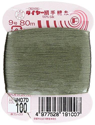 フジックス タイヤー 【絹手縫い糸】 9号/80m col.100