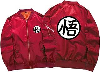 Dragon Ball Anime Bomber Flight Jacket Unisex Zip Up Thicken Baseball Short Coat