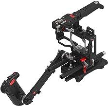 JTZ DP30 Camera Cage Base Plate + Electronic Top Handle Grip + Shoulder Rig for Blackmagic Pocket Cinema Camera BMPCC