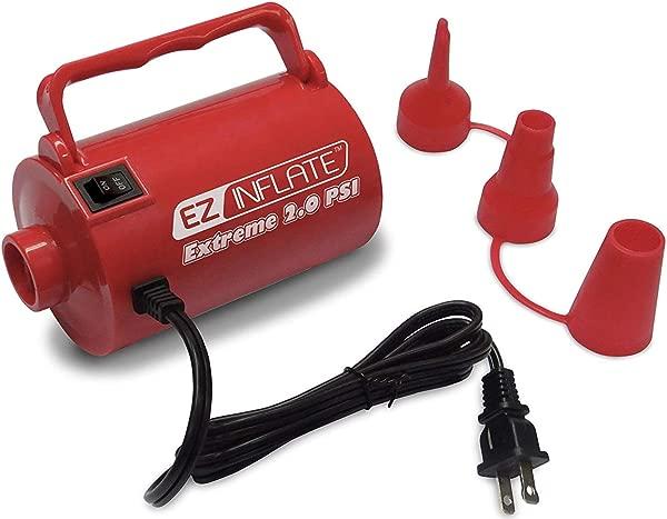 升级 EZ 充气高容量至尊 AC 气泵充气机放气气泵 3 个通用喷嘴电动气泵充气气床充气池极限 2 0 PSI 1 年保修