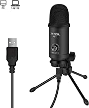 USB Microphone Kit 192KHZ/24BIT Plug & Play USB Computer Cardioid Mic Podcast Condenser Microphone with Professional Sound Chipset for PC Karaoke, YouTube, Gaming Recording