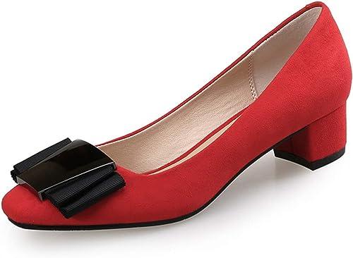 Femmes Chaussures Nues Nues Bouche Peu Profonde Boucle en métal Velours Talon épais  économiser 50% -75% de réduction