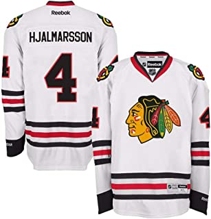 Reebok Niklas Hjalmarsson Chicago Blackhawks Official Road White Premier Jersey