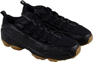 DMX Run 10 Gum Mens Black Leather Low Top Lace Up Sneakers Shoes 8.5