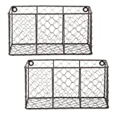 DII Basket Farmhouse Chicken Wire, Small - Set of 2, Vintage Gray