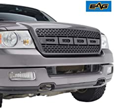 EAG Front Replacement Grille Upper Full Black Grill Fit for 04-08 Ford F-150
