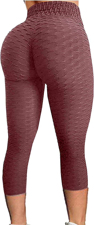 Dunacifa Famous Leggings Yoga Pants for Women, High Waisted Tummy Control Workout Leggings Capri 4 Way Stretch Tights
