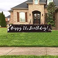 40歳の誕生日バナー Lサイズ Happy 40歳の誕生日バナー 40歳の誕生日のデコレーション レディース メンズ (10x1.5フィート)