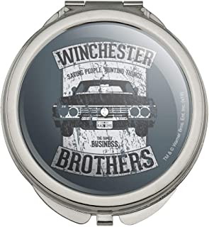 Supernatural Winchester Brother's Impala Compact Travel Purse Handbag Makeup Mirror