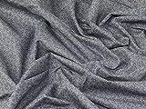 Dezente Miniatur Leaf Print Kleid aus Baumwolle Denim