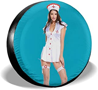 Klbno Say Ahh Sexy Nurse Car Tire Cover Sunscreen Protective Cover Water Proof Universal Spare Wheel Tire Cover