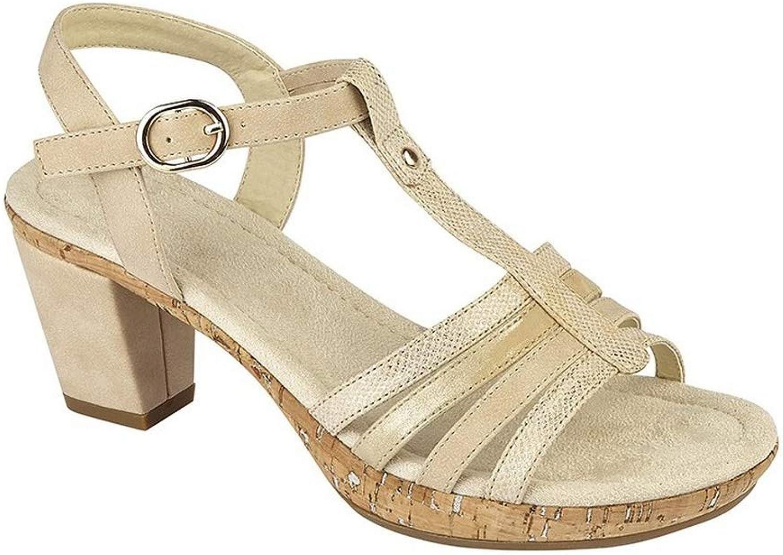 Cipriata Womens Ladies Adona Buckle Halter Back Sandals