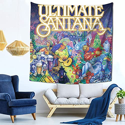 Junccctoy Small Mini Cool Pictures Tapestry San_tan_a Wall Hanging Wall Blanket Art Wall Hanging Bedroom Home Decoration Tapestries Living Bedroom, Dorm Room Decoration 59x59 inch