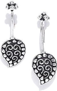 Prita Designer Jewellery Clip-On Earrings for Women (Silver) (DC-EARCF-10015)