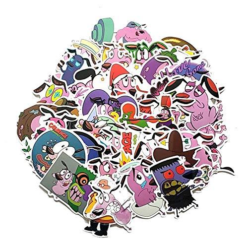 Lindo Perro Cobarde de Dibujos Animados Pegatina de Minnie Dibujos Animados Doodle Python Motocicleta portátil Equipaje Bicicleta monopatín 50 Uds