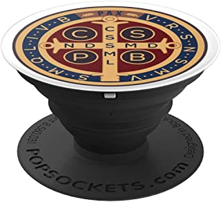Saint Benedict Medal Cross Devil Chasing Catholic - PopSockets Grip and Stand for Phones and Tablets