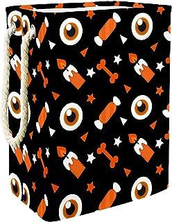 EZIOLY Panier à linge pliable avec poignées et crochets amovibles pour Halloween, idéal pour organiser les vêtements, les ...