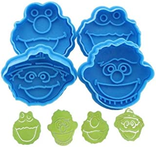 PiniceCore 3D Sesame Street Elmo Cookie Cutter Biscuit Hand Stamp Press Plunger Cutter Mold(Random Color)