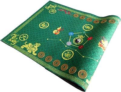 """Lucky Feng Shui Bagua Map Non Slip Door Mat 30""""x22"""" / Feng Shui Carpet Mat Household Items Green"""