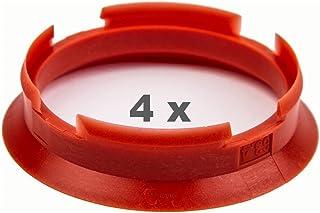 Zentrierringe 66.6 auf 57.1 mm rot Zentrierring rot Adapterring Distanzring 4x Zentrierringe 66,6 auf 57,1 mm rot