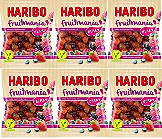 HARIBO ハリボー フルーツマニア ベリー175g ×6袋 ゼラチン不使用 ベジタリアン認証 (2021年発売)