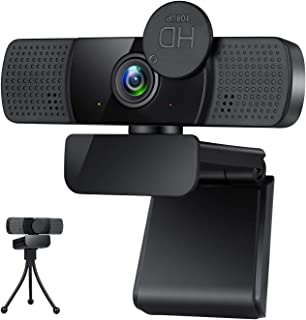 Webcam,Webcam with Microphone,USB PC Computer Webcam with Privacy Cover and Tripod,Laptop Desktop Full HD Camera Video Web...