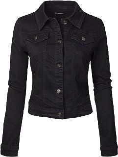 Design by Olivia Women's Classic Casual Vintage Denim Jean Jacket/Vest