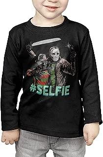 Kids Freddy Krueger VS Jason 13th Friday #Selfie Long Sleeve T-Shirts Black