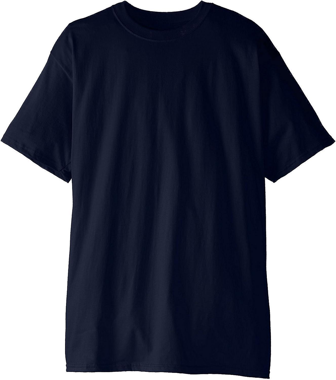 Hanes Men's Beefy-T Crewneck Short-Sleeve Tall T 2PK