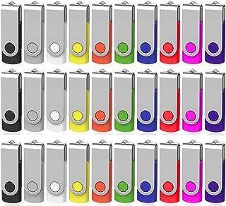 ذاكرة فلاش USB سعة 2 جيجابايت 100 حزمة، محرك أقراص فلاش يو إس بي ممتاز من AreTop Premium USB 2.0 كلاسيك سوينغ بوك، ذاكرة ق...