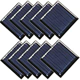 10Pcs 2V 60mAh 0.12W 45X45mm Micro Mini Power Small Solar Cell Panel Module for DIY Solar Light Phone Charger Toy Flashlight