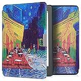 kwmobile Funda Compatible con Kobo Aura Edition 2 - Carcasa para e-Reader de Piel sintética - Azul/Amarillo/Naranja/Naranja