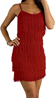 Best red fringe dress Reviews