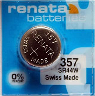 Renata #357 Silver Oxide Battery Priced Individually Sold In 5-Packs