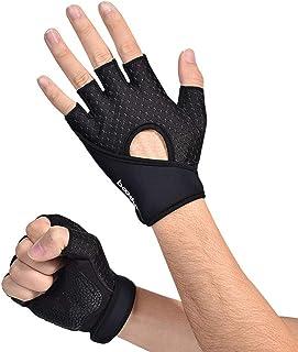 HEALLILY Sporthandschoenen, antislip, ademend, zweetabsorberende yoga-handschoenen voor training in de sportschool, 1 paar