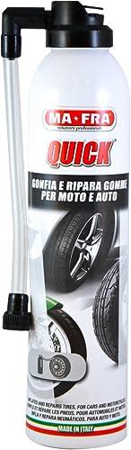 Mafra, Quick, Gonfle et Répare Les Pneus Crevés de Voiture et Moto, pour Pneumatiques avec ou Sans Chambre d'Air, For...