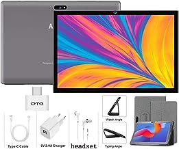 Tablet 10 Pulgadas Android 9.0 4G LTE【2020 Certificación Google GMS】 Tablets 3GB RAM+32GB ROM/128GB Escalable Quad-Core Dual SIM 8000mAh GPS Type-C 5.0+8.0MP (Gris)