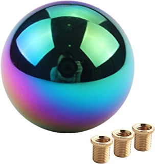 DEWHEL JDM Neo Chrome Round Shift Knob for Both Manual or Automatic Fit Acura Honda Mazda Nissan Toyota 5 Speed 6Speed