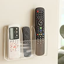 VANCORE Remote Control Holder - Acrylic Wall Mount Media Organizer Box, 3 Compartments