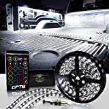 OPT7 Aura 21FT Truck Bed Full Coverage LED Lighting Strip Kit - Sound-Activated Multi-Color Lights - Wireless Remote - OE-Style Rocker Switch - AUTO-ON Tailgate Switch