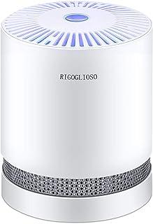 RIGOGLIOSO空気清浄機 除菌 脱臭 静音 暖色 花粉 煙 塵埃 臭い PM2.5対策 アレルギーとペットの髪 真のHEPAフィルター フィルターシステムクリーナーエリミネーター、コンパクトなデスクトップピューリファイアーナイトライト付き...